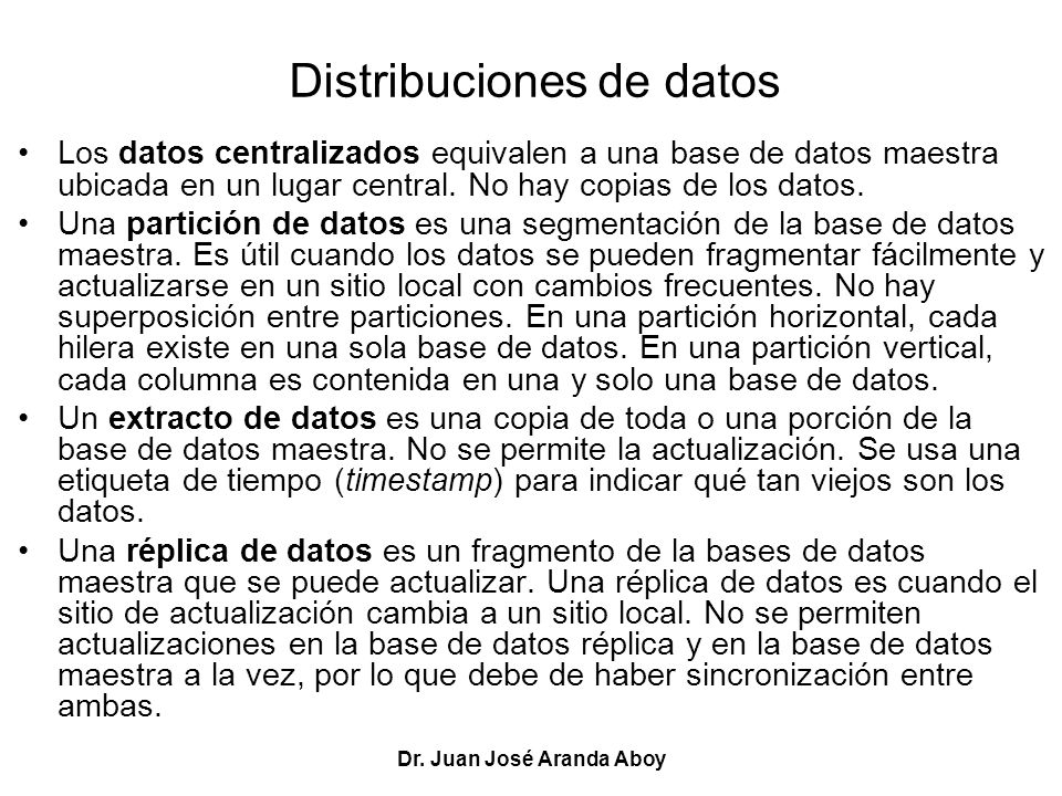 Distribuciones de datos