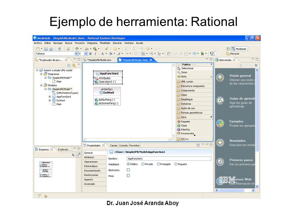 Ejemplo de herramienta: Rational