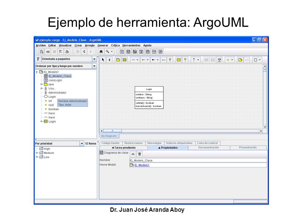 Ejemplo de herramienta: ArgoUML