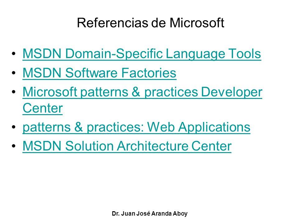 Referencias de Microsoft