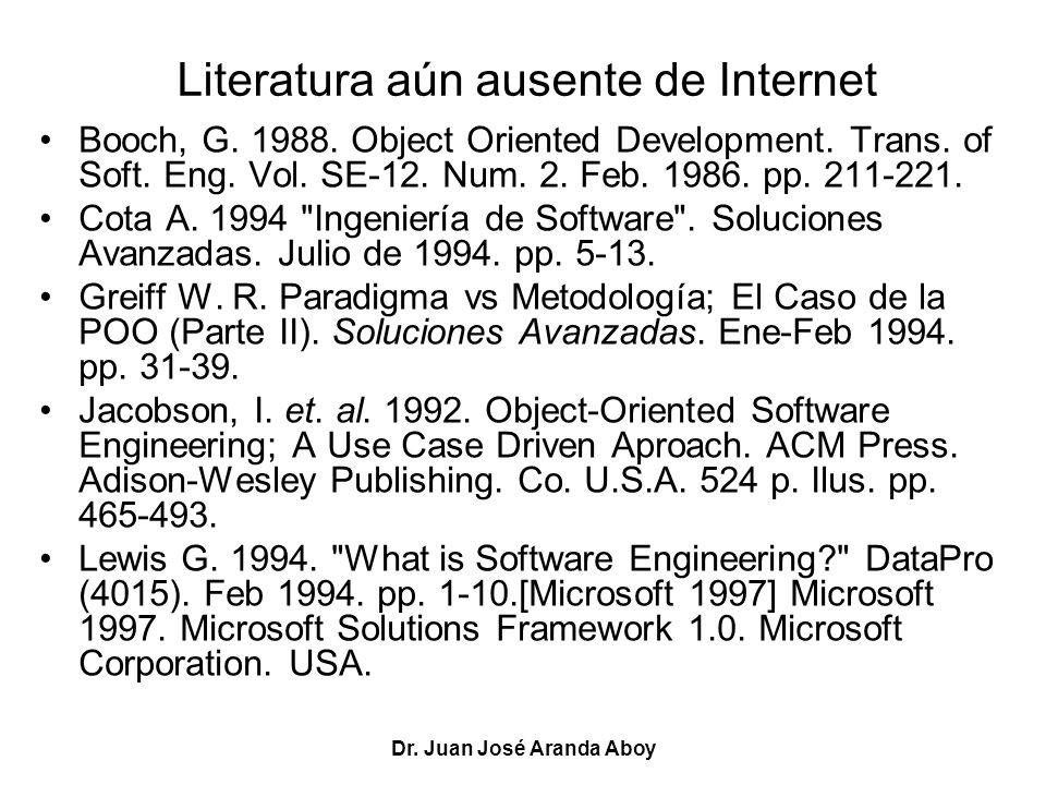 Literatura aún ausente de Internet
