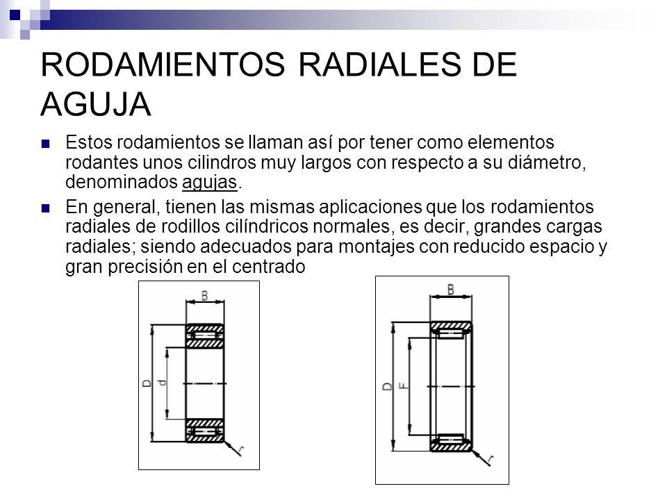 RODAMIENTOS RADIALES DE AGUJA