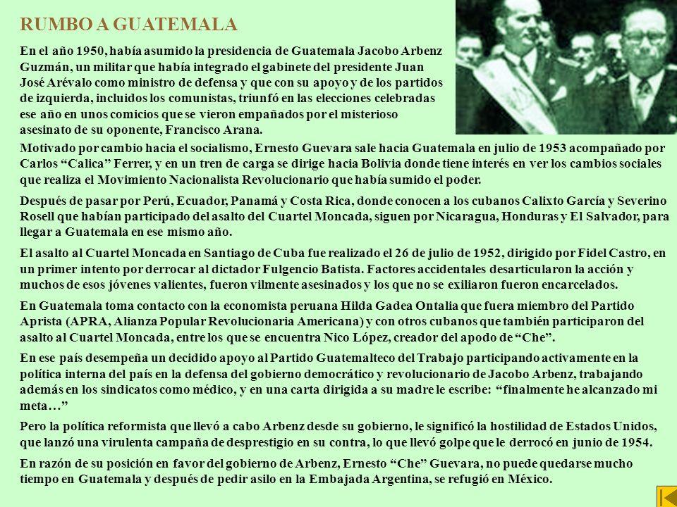 RUMBO A GUATEMALA