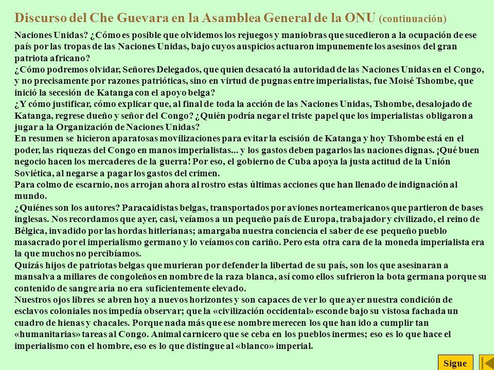 Discurso del Che Guevara en la Asamblea General de la ONU (continuación)