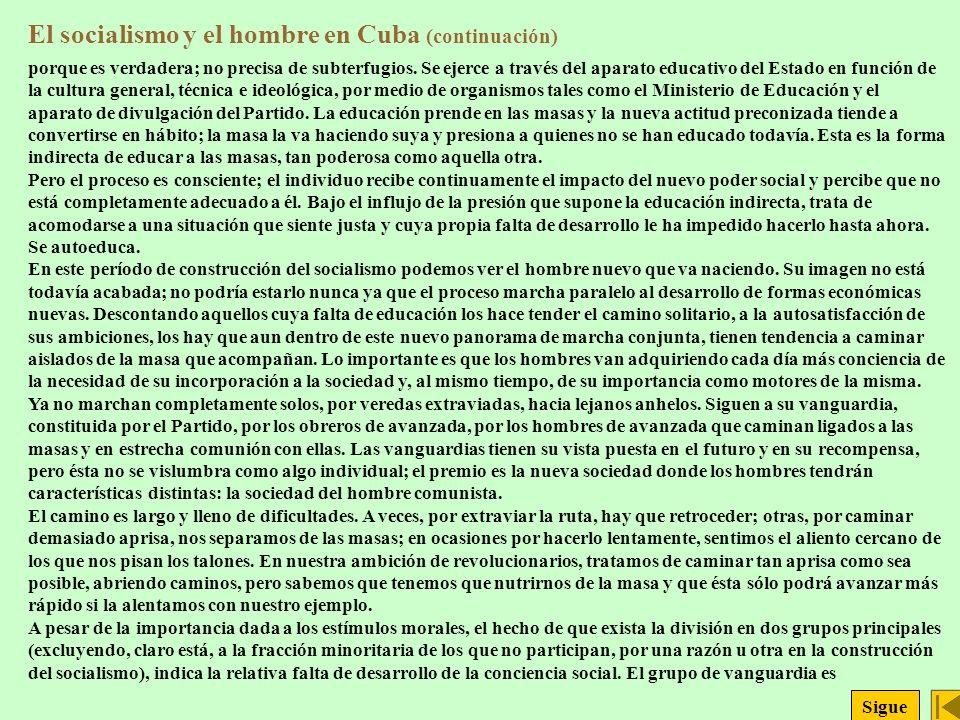 El socialismo y el hombre en Cuba (continuación)
