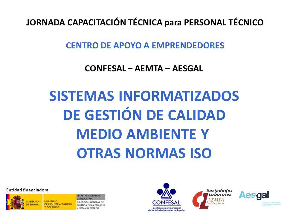 SISTEMAS INFORMATIZADOS DE GESTIÓN DE CALIDAD MEDIO AMBIENTE Y