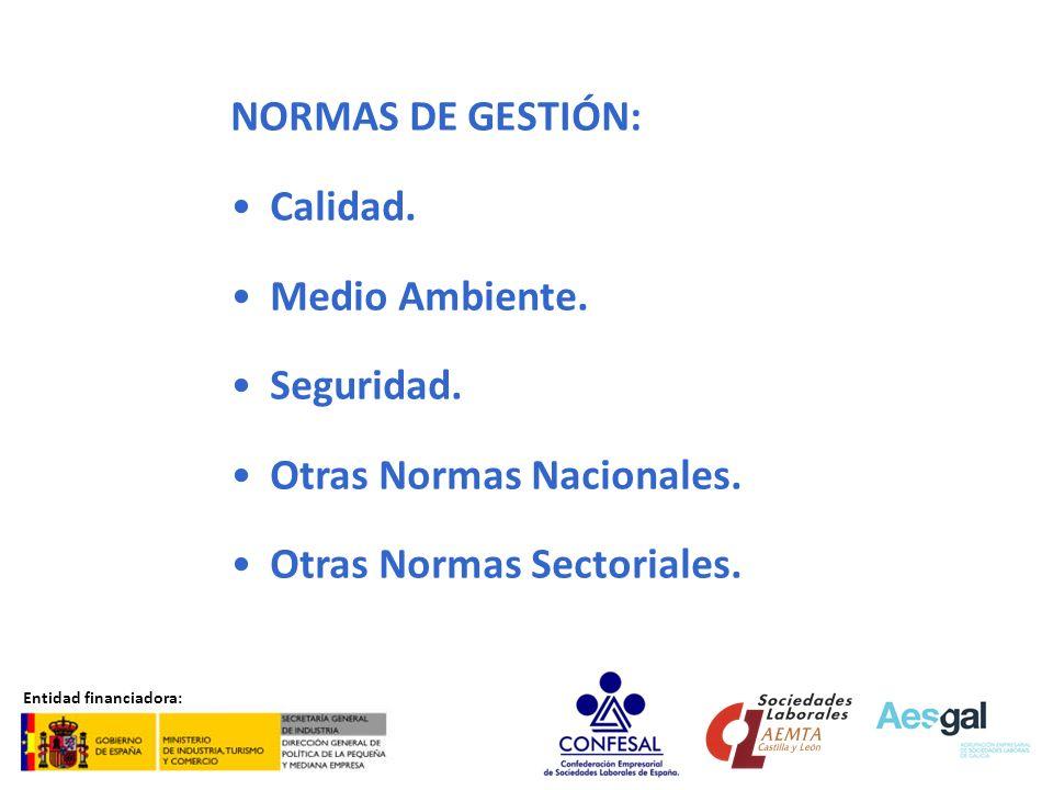 Otras Normas Nacionales. Otras Normas Sectoriales.
