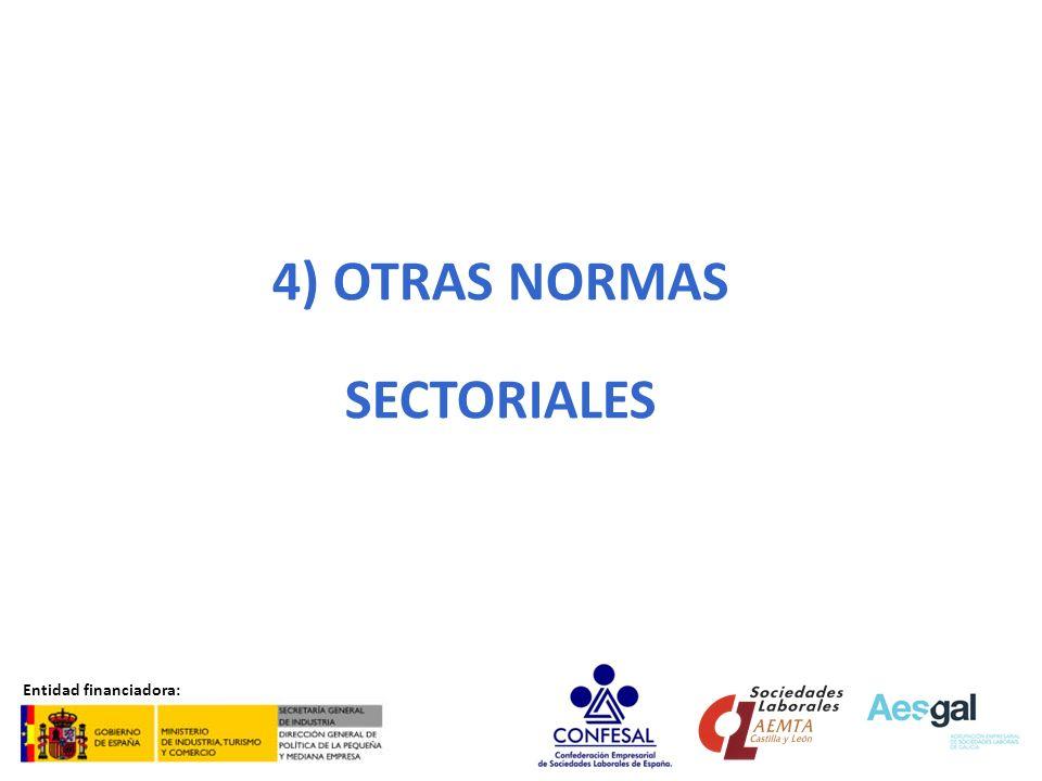 OTRAS NORMAS SECTORIALES