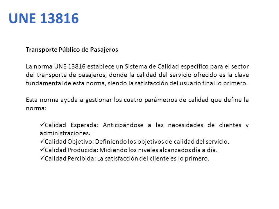 UNE 13816 Transporte Público de Pasajeros