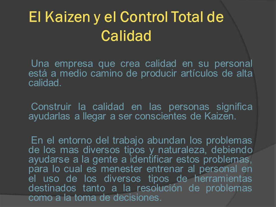 El Kaizen y el Control Total de Calidad