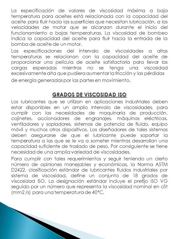 GRADOS DE VISCOSIDAD ISO