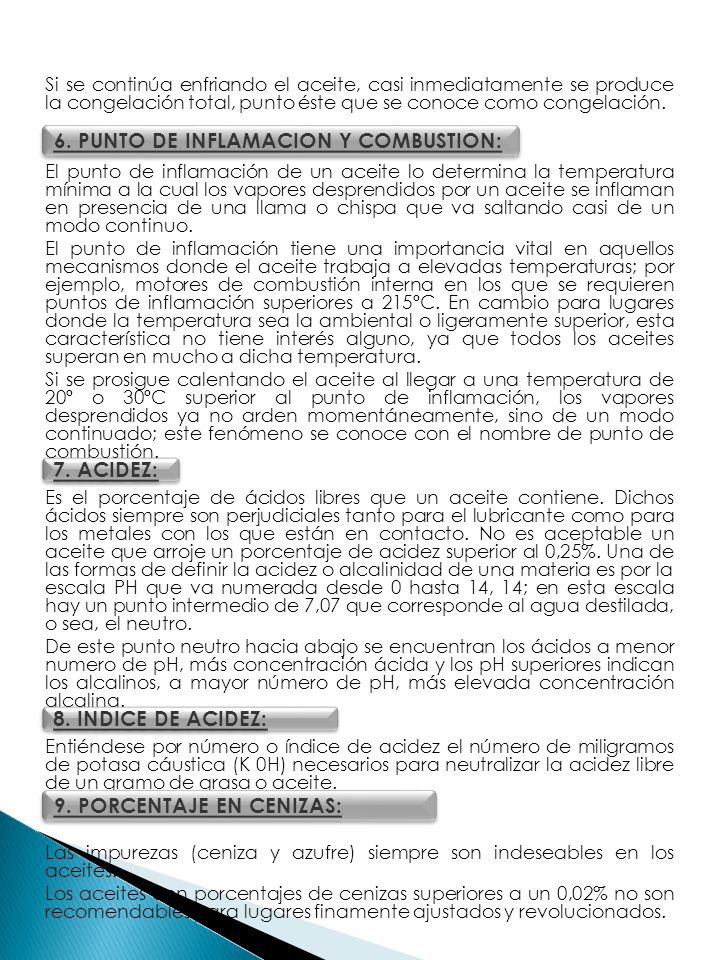 6. PUNTO DE INFLAMACION Y COMBUSTION: