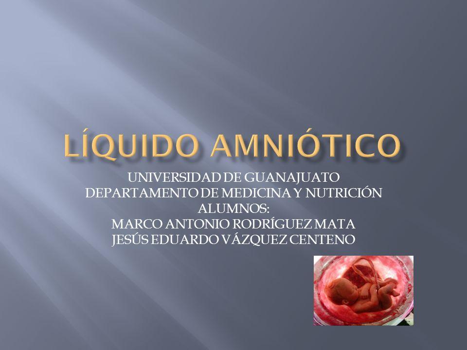 LÍQUIDO AMNIÓTICO UNIVERSIDAD DE GUANAJUATO