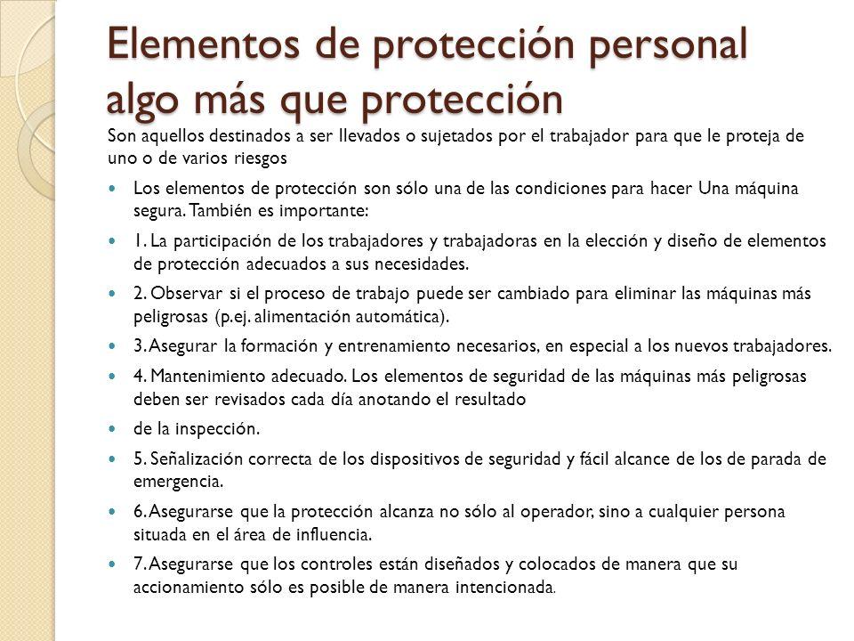 Elementos de protección personal algo más que protección