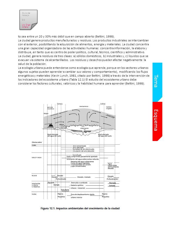 Guia de trabajo D.S. Lic. Olga Arrieta. to sea entre un 20 y 30% más débil que en campo abierto (Bettini, 1998).
