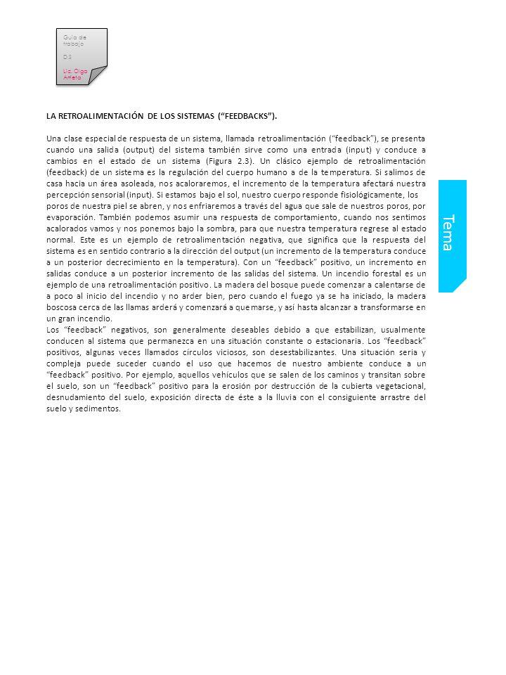 Tema LA RETROALIMENTACIÓN DE LOS SISTEMAS ( FEEDBACKS ).