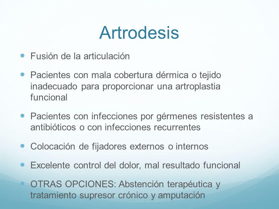 Artrodesis Fusión de la articulación