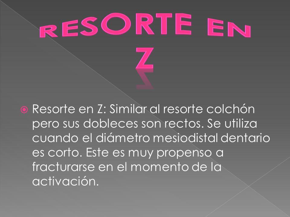 RESORTE EN Z.