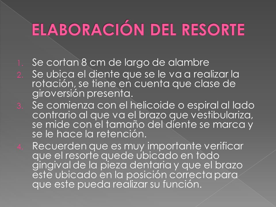 ELABORACIÓN DEL RESORTE