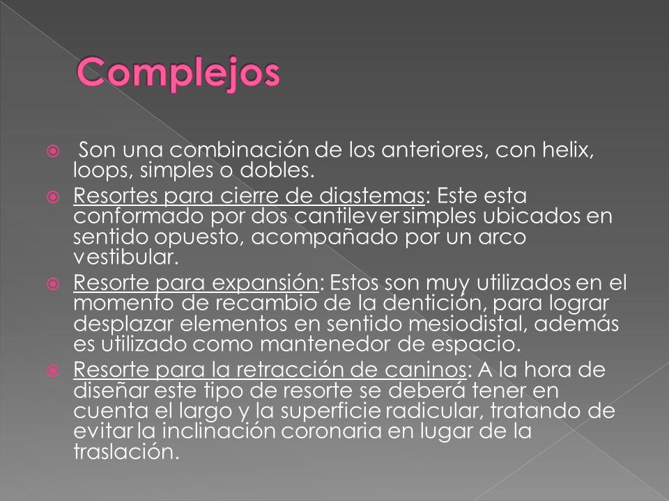 Complejos Son una combinación de los anteriores, con helix, loops, simples o dobles.