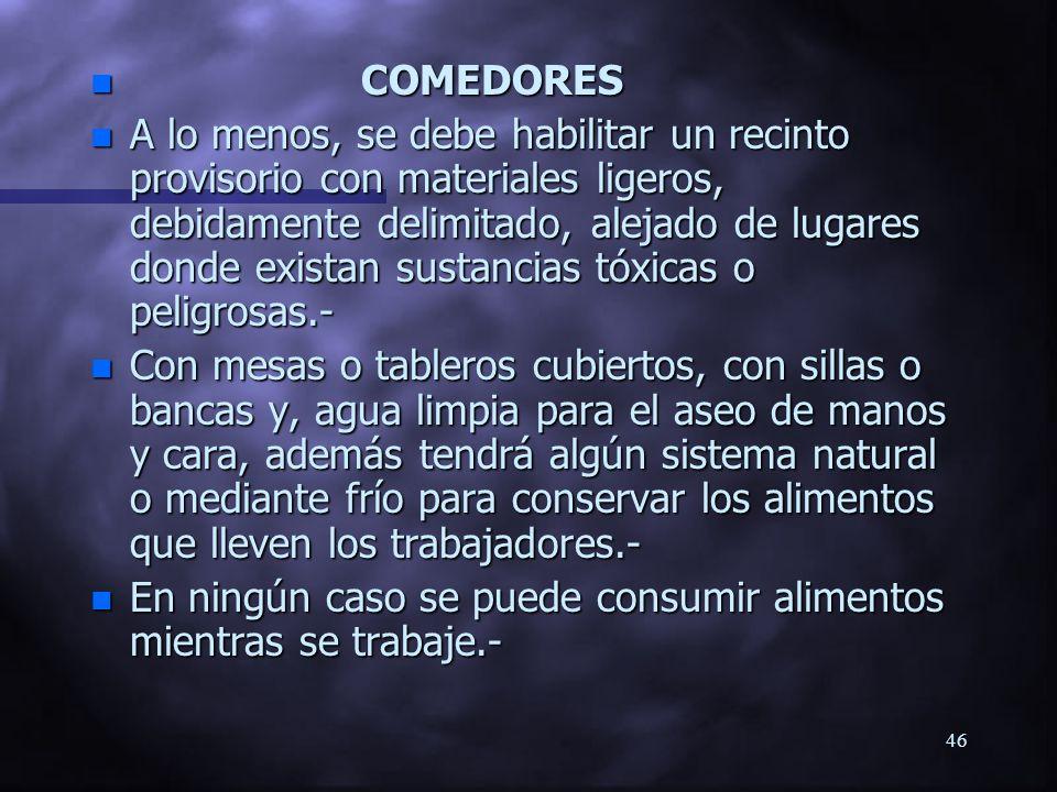 COMEDORES