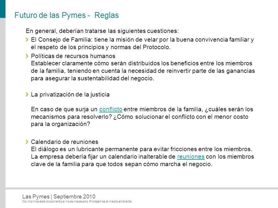 Futuro de las Pymes - Reglas