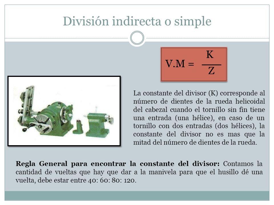 División indirecta o simple
