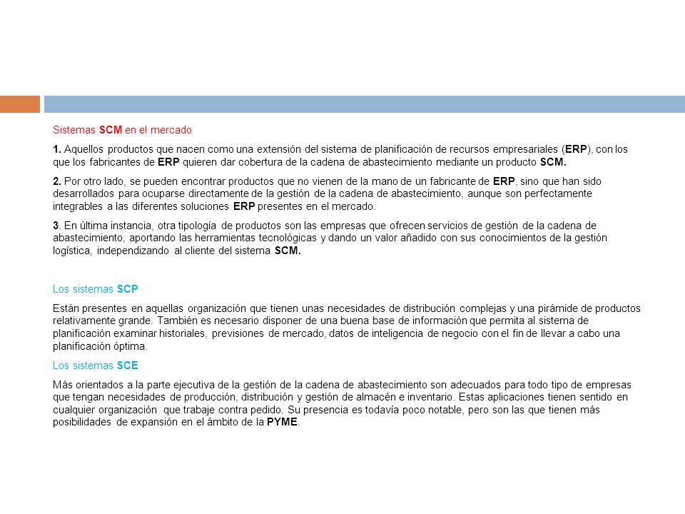 Sistemas SCM en el mercado 1