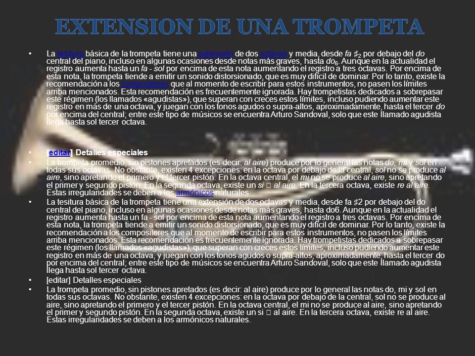 EXTENSION DE UNA TROMPETA
