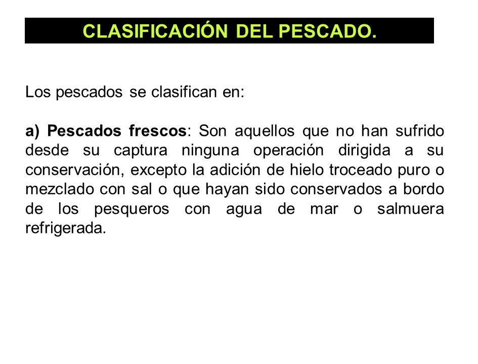 CLASIFICACIÓN DEL PESCADO.