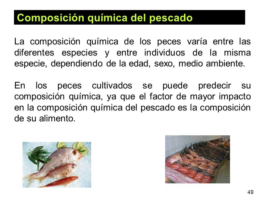 Composición química del pescado
