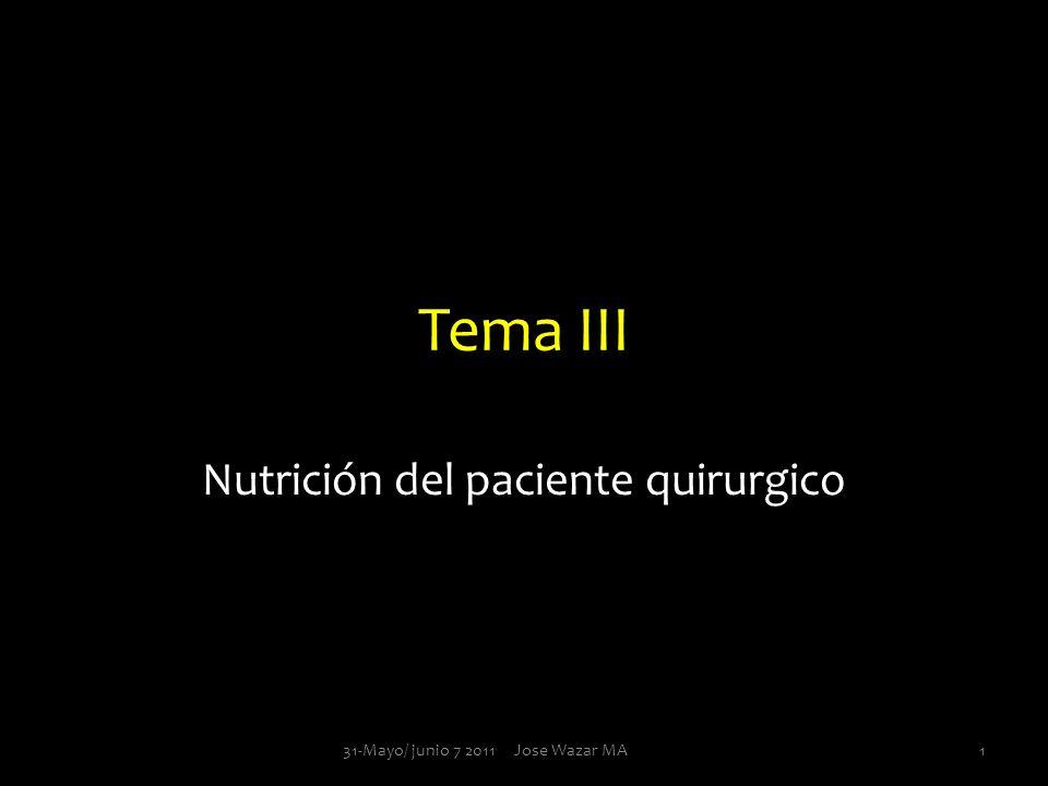 Nutrición del paciente quirurgico