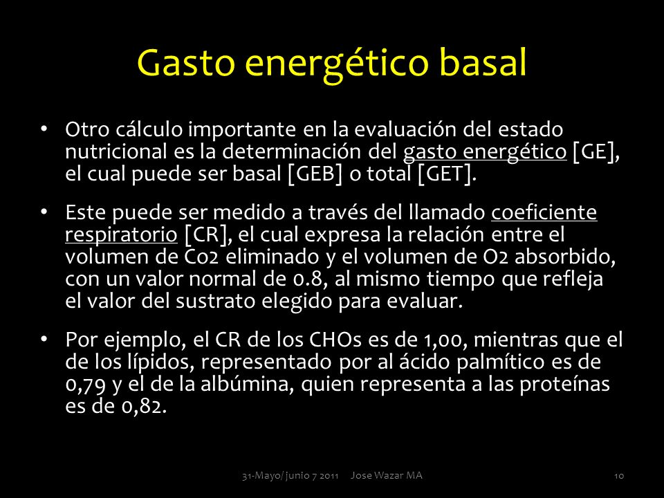 Gasto energético basal