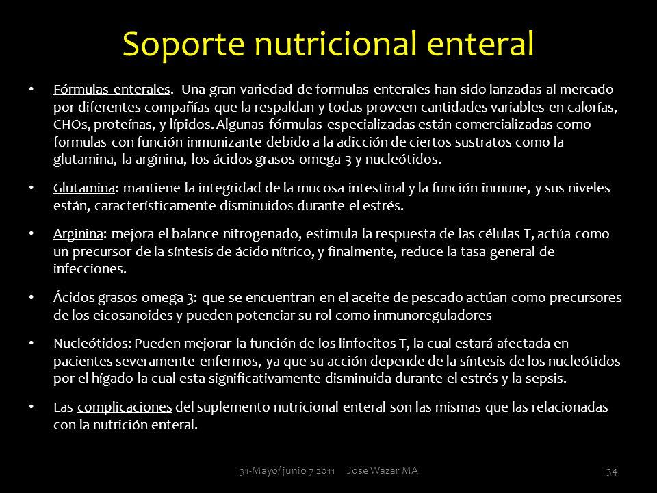 Soporte nutricional enteral