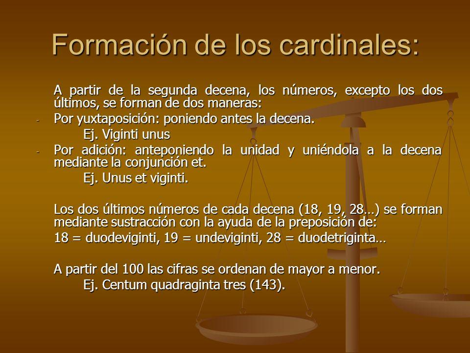 Formación de los cardinales: