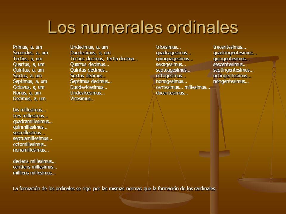 Los numerales ordinales