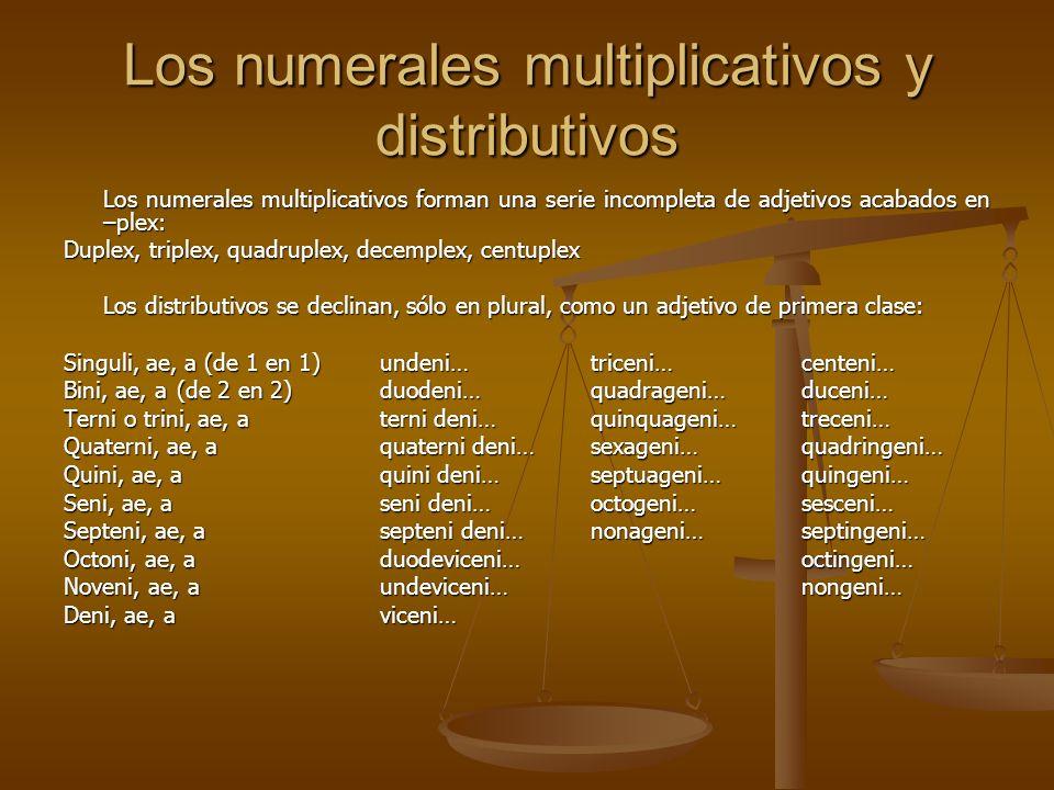 Los numerales multiplicativos y distributivos