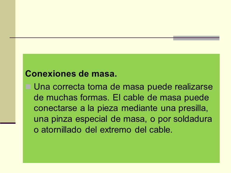 Conexiones de masa.