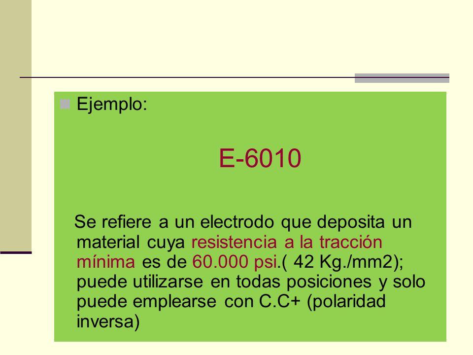Ejemplo: E-6010.