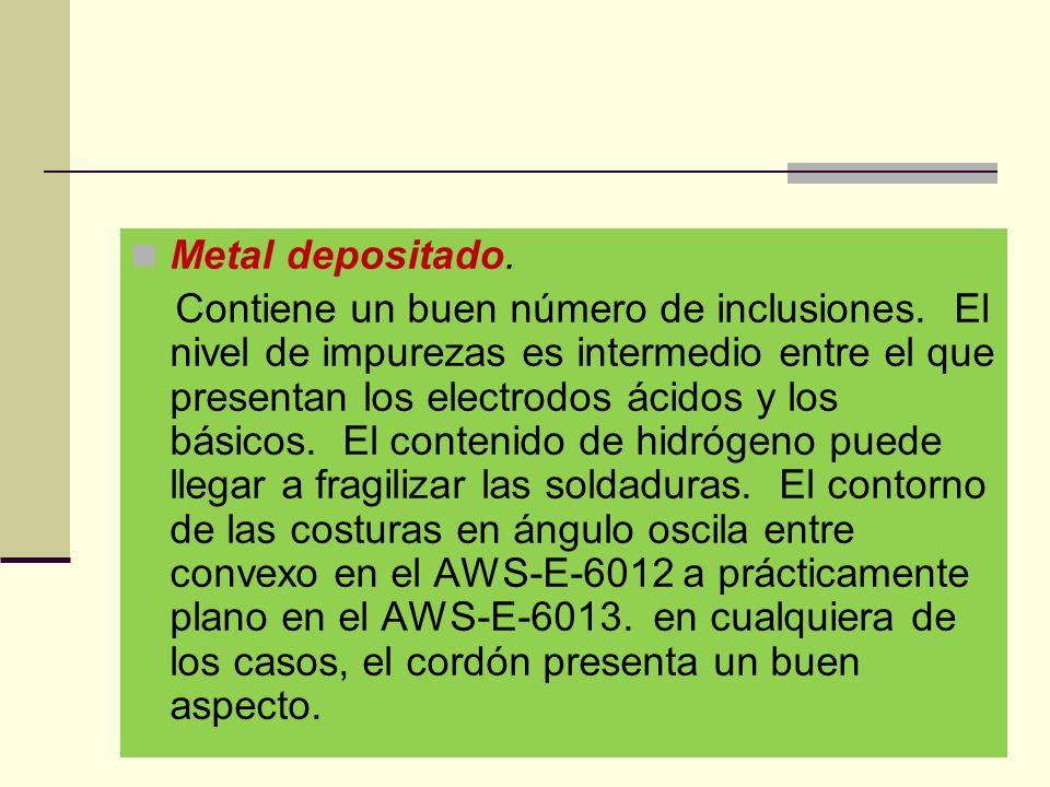 Metal depositado.