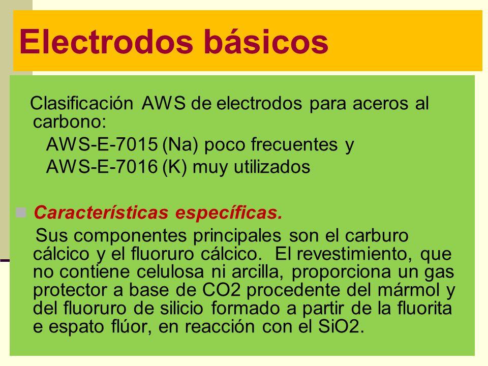 Electrodos básicos AWS-E-7015 (Na) poco frecuentes y