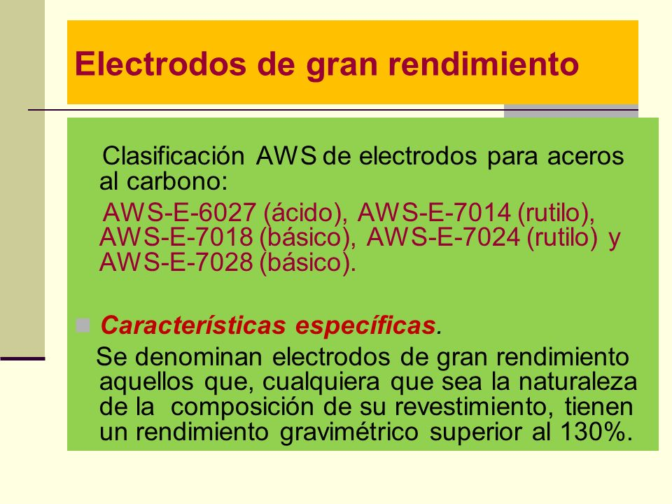 Electrodos de gran rendimiento