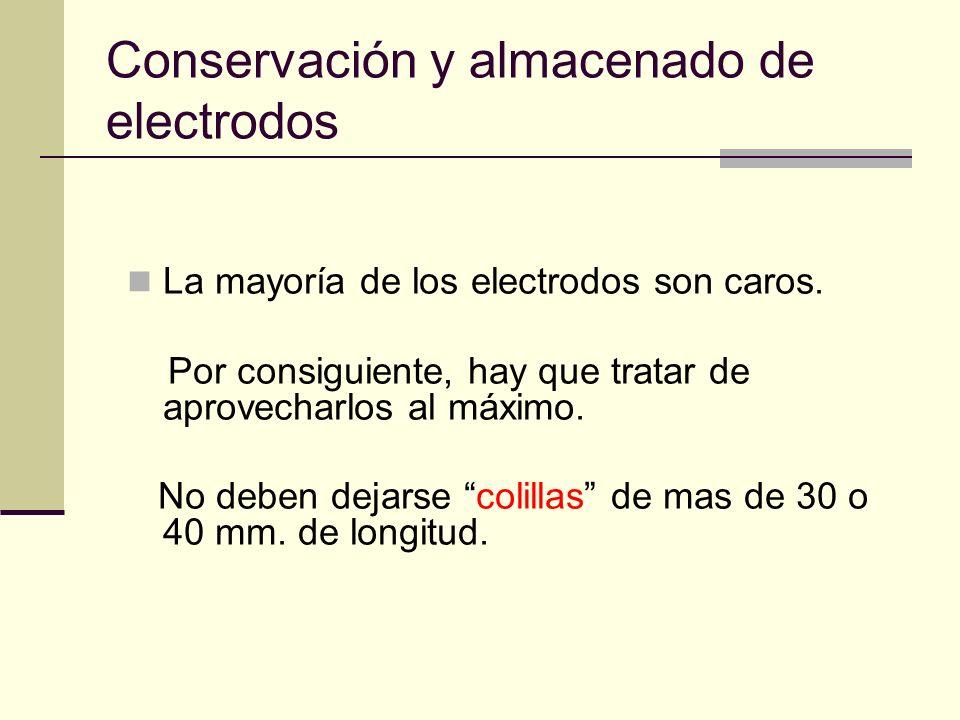 Conservación y almacenado de electrodos