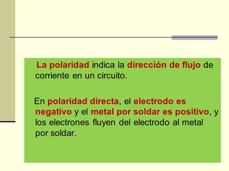 La polaridad indica la dirección de flujo de corriente en un circuito.