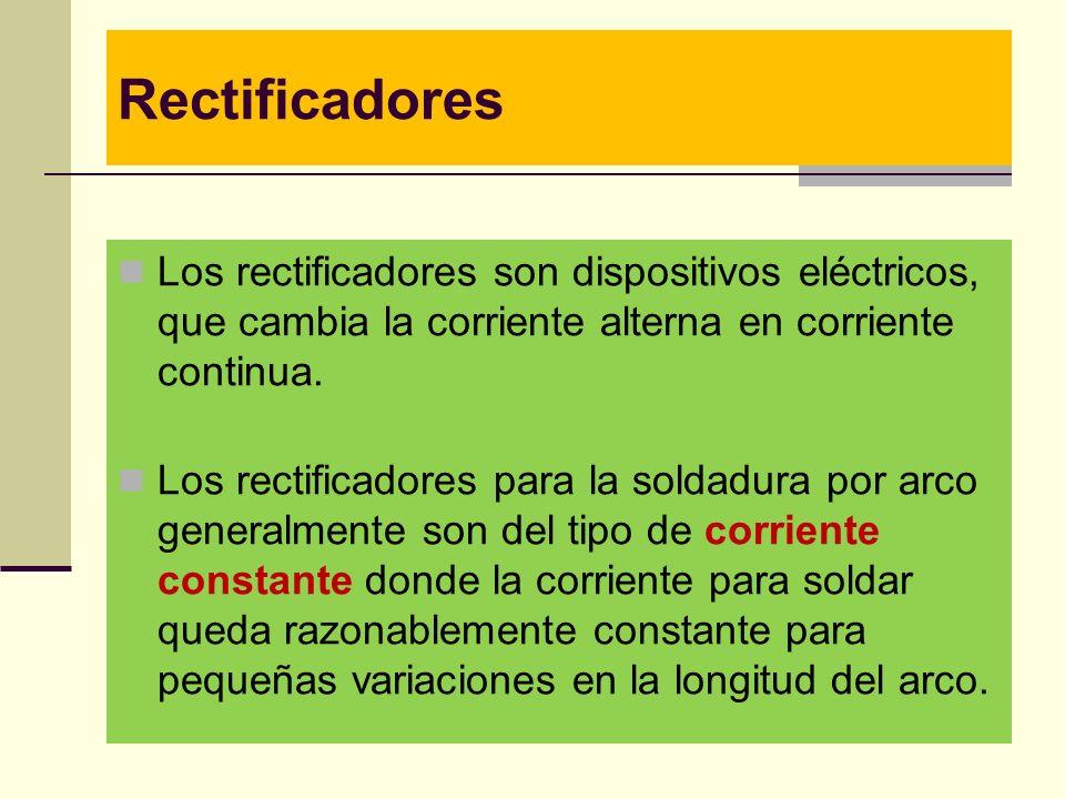 Rectificadores Los rectificadores son dispositivos eléctricos, que cambia la corriente alterna en corriente continua.