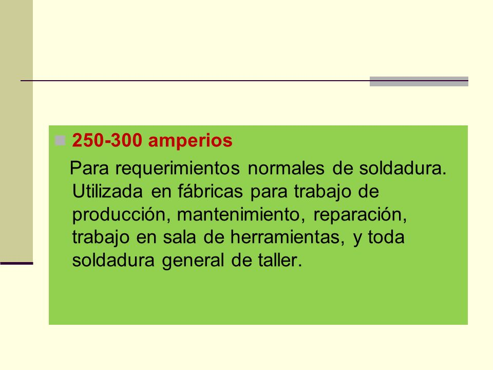 250-300 amperios