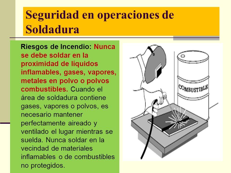 Seguridad en operaciones de Soldadura