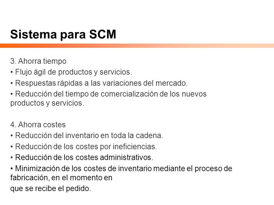 Sistema para SCM 3. Ahorra tiempo