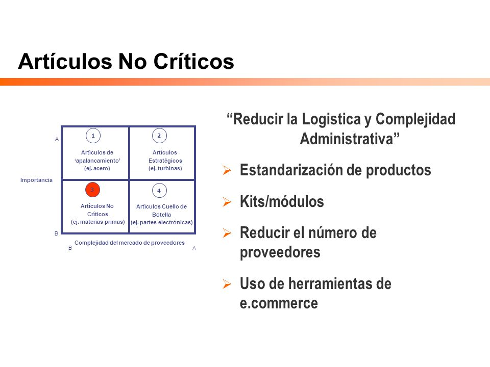 Reducir la Logistica y Complejidad Administrativa