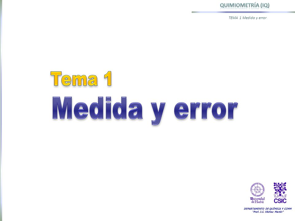 Tema 1 Medida y error